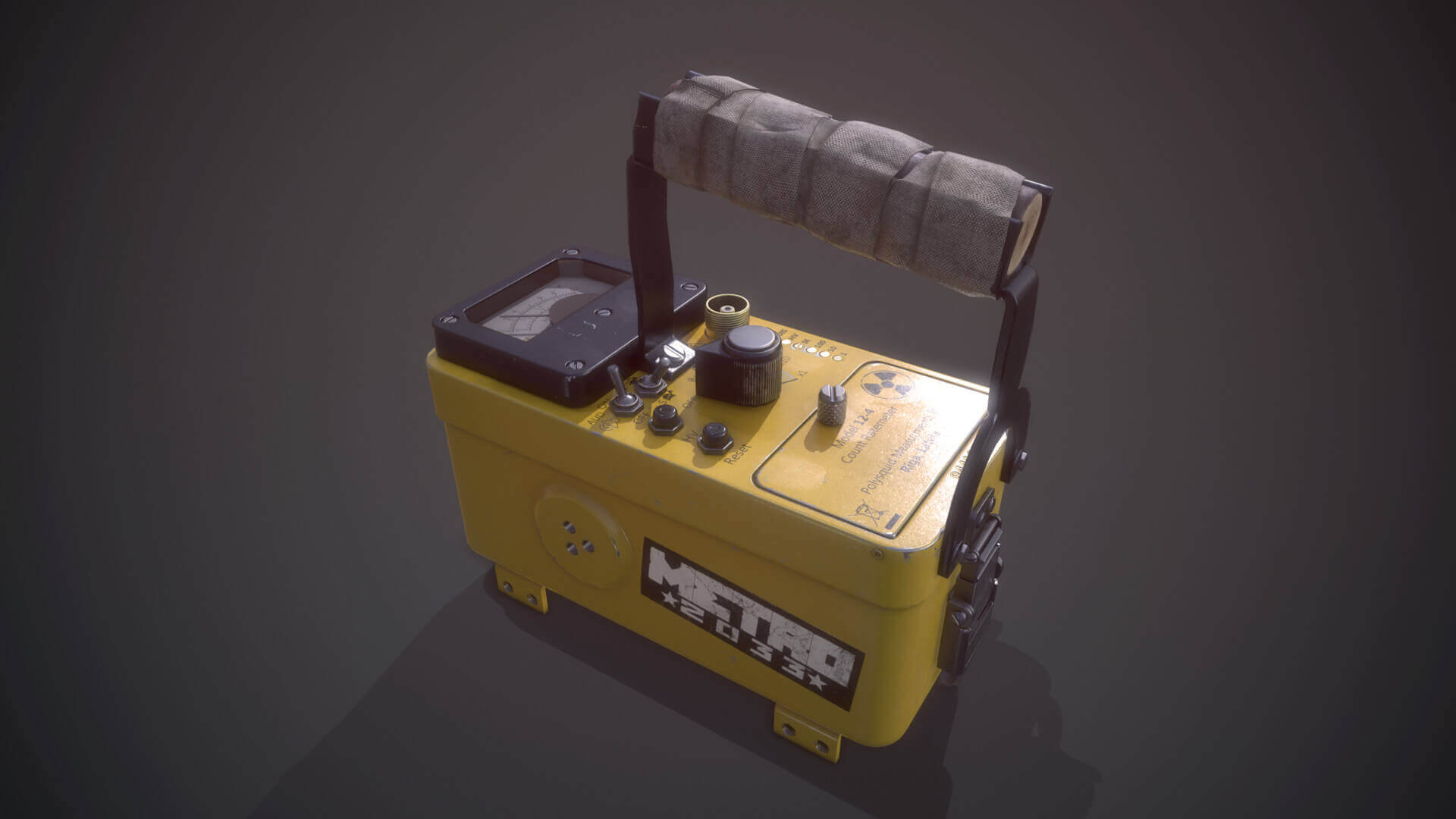 Geiger Counter PBR 3D Model For Unity Asset Store