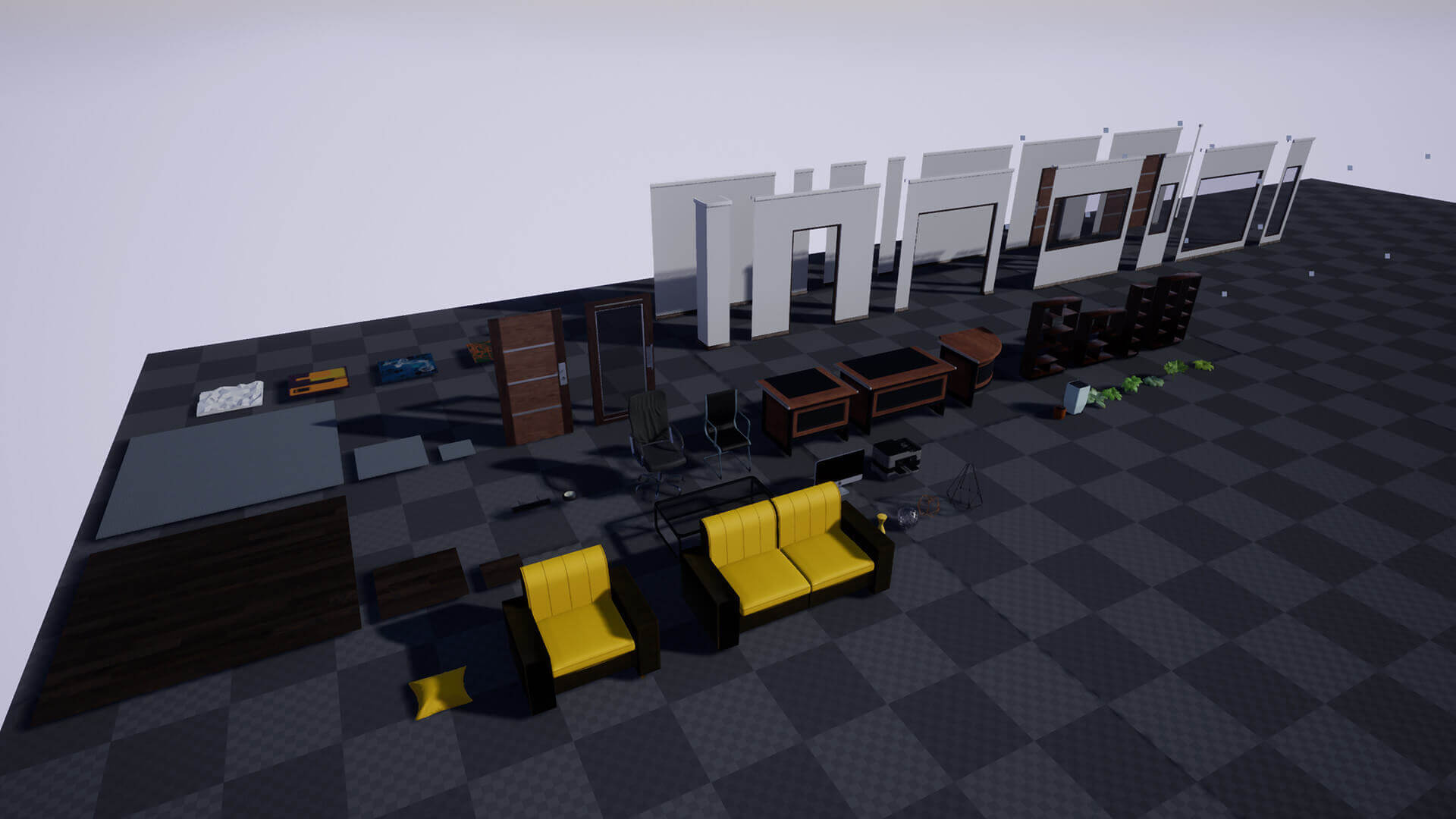 Modular Office Environment: Modular Office Pack - Polysquid Studios