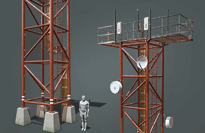 Modular Radio Tower_polysquid_studios_3d_models